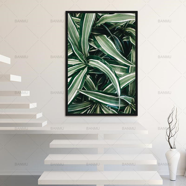 Wall art picture Canvas painting poster New products Home Decoration Canvas Prints on Leaf  Pictures For Living Room no frame
