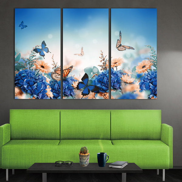 Picture canvas painting Nordic Style Canvas Art Print Painting Poster  Butterfly Wall Pictures for Home Decoration Wall Decor