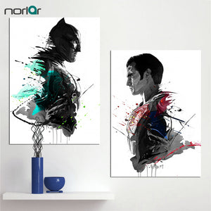 Watercolor ART Prints Canvas Oil Painting Super Hero Superman Batman Decoration Home Decor Modern Wall Pictures For Living Room