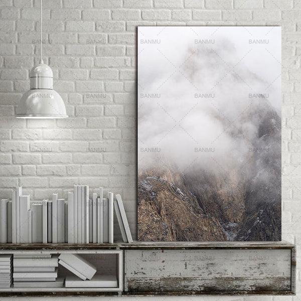 Landscape Wall Picture home decor Canvas painting Wall art print Snow mountain scenery canvas decoration for living room