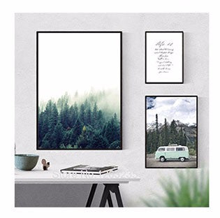 Mountain Painting Forest Posters And Prints Cuadros Nordic Poster Wall Art Picture Canvas Pictures For Living Room Unframed