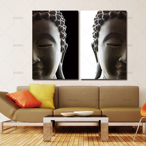 canvas painting wall art print 2 penel buddha art canvas Picture landscape Canvas painting Modern living room Decorative