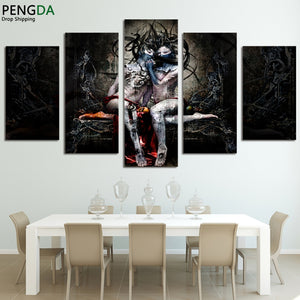 Canvas Wall Art HD Printed Painting Poster Frame 5 Pieces Nude Woman Modular Abstract Pictures Home Decor For Living Room PENGDA