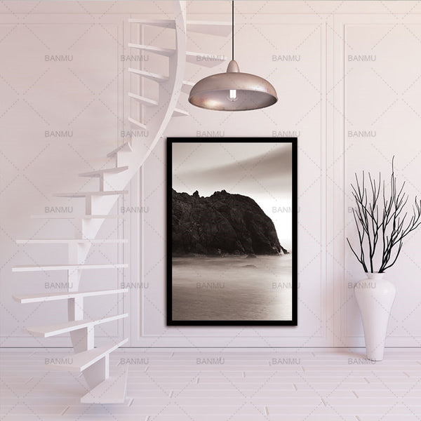 Nordic Rock Natural Abstract Wall Pictures for Living Room Art Decoration Pictures Scandinavian Canvas Painting Prints No Frame