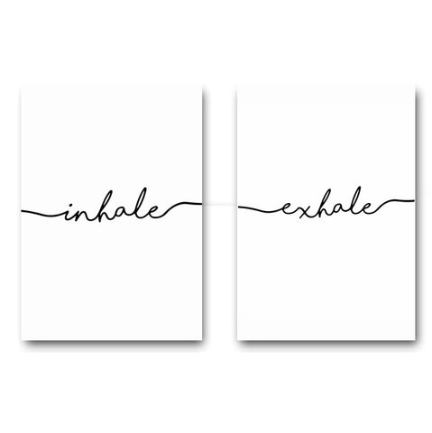 NICOLESHENTING Funny Quote Minimalism Art Canvas Poster Painting Wall Picture Print Modern Home Decoration Room Decoration