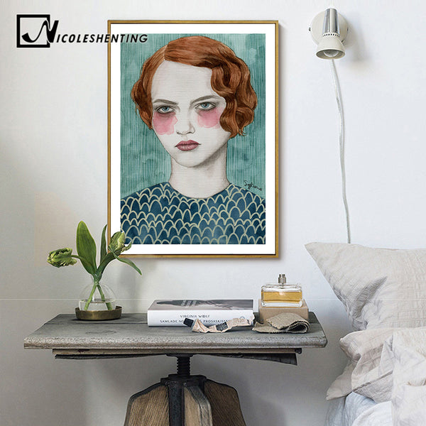 Nordic Decoration Girl Motivational Quote Poster Canvas Prints Minimalist Wall Art Painting Decorative Picture for Living Room