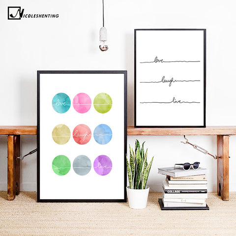 NICOLESHENTING Motivational Quote Nordic Poster Prints Minimalist Wall Art Canvas Painting Picture Home Decor Room Decoration