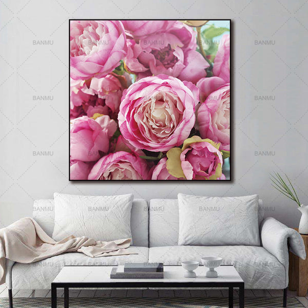 Canvas Pictures painting  Wall art pictures Canvas painting New modern print flower on  realism decoration for living home