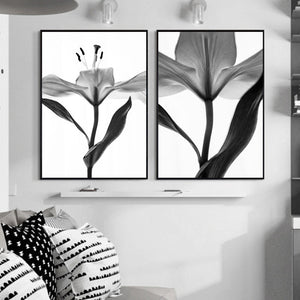 Black And White Flower Nordic Poster Wall Art Canvas Painting Picture Posters And Prints Wall Pictures For Living Room Unframed