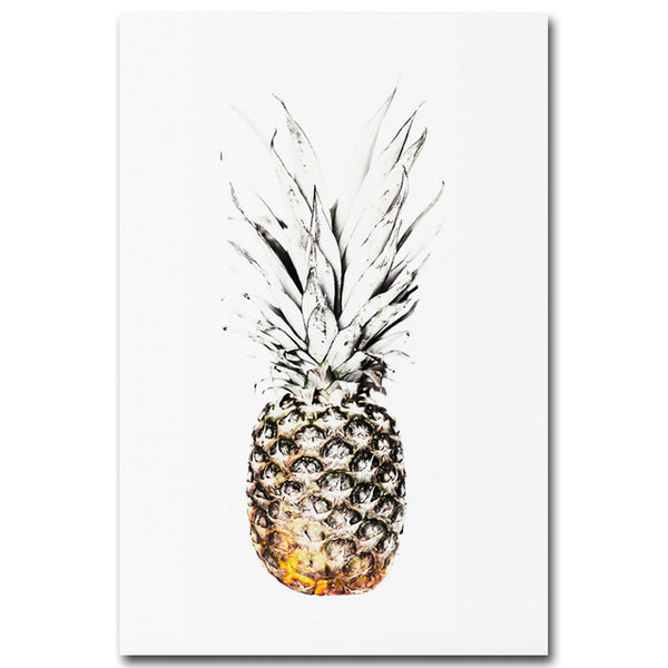 Tropical Sea Beach Pineapple Motivational Nordic Poster Print Minimalist Wall Art Canvas Painting Picture Room Decoration