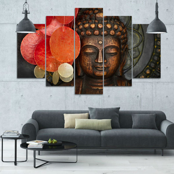 Art Poster Modern Home Decor Living Room Canvas 5 Panel Animal Buddha Landscape Frame Wall HD Print Painting Modular Pictures