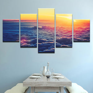 Canvas Art Wall Modular Picture Home Decoration Frame 5 Panel Beautiful Cloud Landscape Living Room Print Modern Paintings