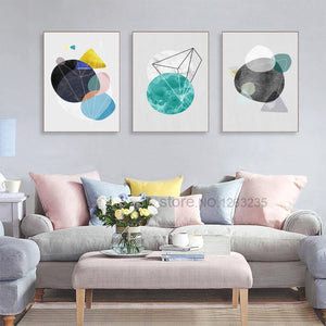 Cuadros Geometry Abastract Print Wall Art Canvas Painting Circle Nordic Poster Picture Canvas Pictures For Living Room Unframed