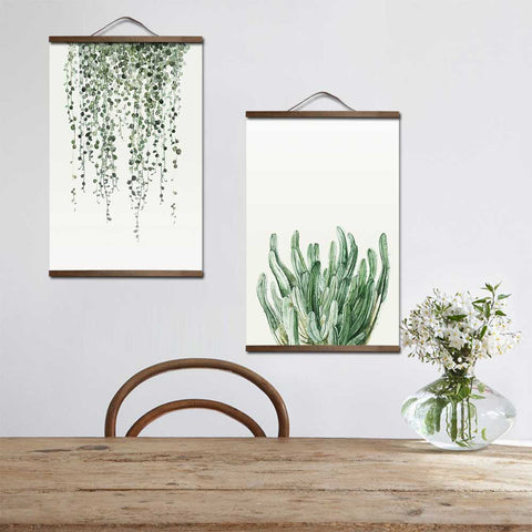 Watercolor posters and Plant Leaves Landscape prints nordic poster Wall Art Canvas Painting Picture for Living Room Home Decor
