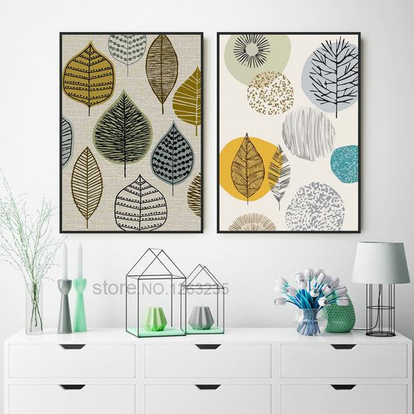 Scandinavian Modern Geometric Nordic Poster Wall Art Canvas Painting Picture Posters Wall Pictures For Living Room Unframed