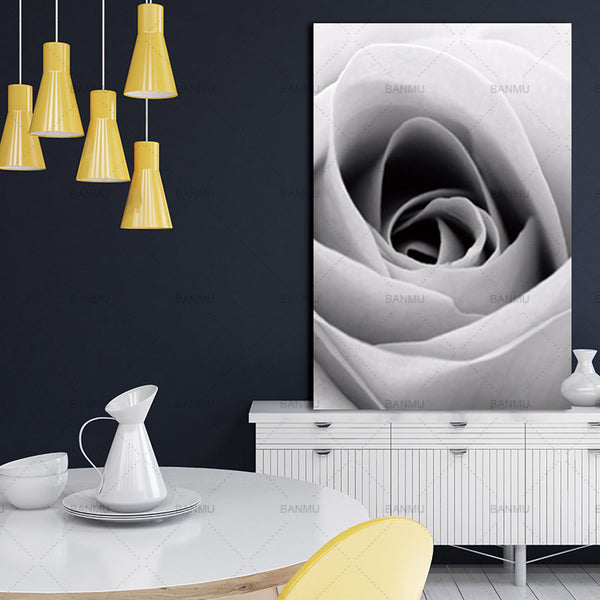 Canvas Painting Prints wall art  flower rose Abstract Flower in Blossom Nordic Wall Pictures Living Room Art Decoration Picture