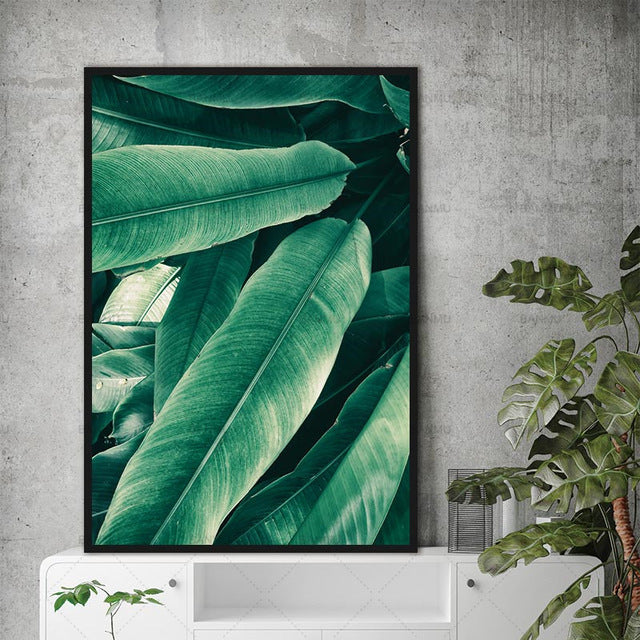 Wall Painting Art decoration for Home Modern 1 Panel Office Decorations Print on green Leaf canvas painting top sell no frame