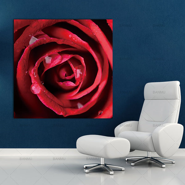 No Frame Print Canvas painting Wall Art rose picture print on canvas  Roses Decoration Art Oil Painting Modular Pictures