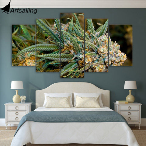 5 piece canvas art HD print plantes poster weeds picture paintings for living room wall free shipping UP-2064C