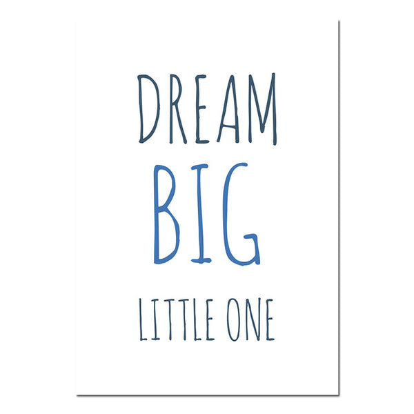 Nursery Quote Wall Art Canvas Posters Cartoon Minimalist Prints Nordic Style Painting Picture Children Baby Bedroom Decoration