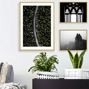 Forest Road Wing Posters And Prints Nordic Poster Picture Wall Art Canvas Painting Wall Pictures For Living Room Unframed