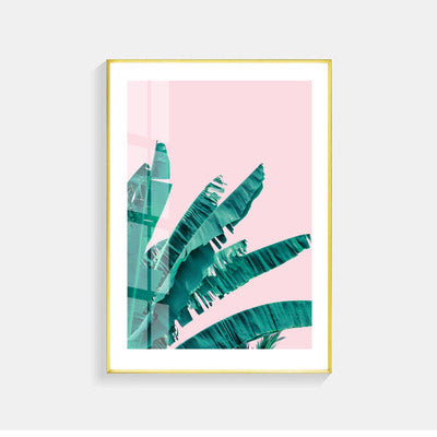 Green Leaf Flamingo Nordic Poster Wall Art Canvas Painting Posters And Prints Picture Wall Pictures For Living Room Unframed