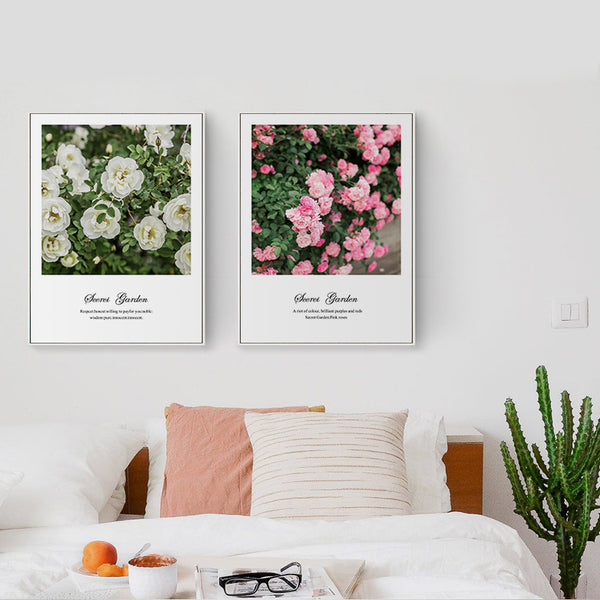 Elegant Poetry Roses and Sweet Language Canvas Painting Art Print Poster Picture Wall Paintings Wall Beautiful Home Decoration