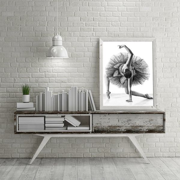 Elegant Poetry Simple Fashion Ballet Girl Dancer Canvas Painting Art Print Poster Picture Wall Modern Home Decor Painting