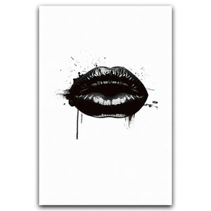 Modern Minimalist Lipstick Sexy Girl Lipstick Canvas Painting Art Printing Poster Picture Bedroom Living Room Decoration OT244