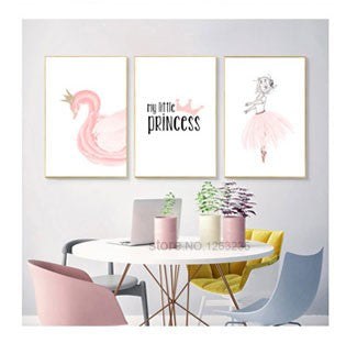 Pink Eyelash Nursery Kinderkamer Nordic Poster Nordic Style Kids Decoration Wall Art Canvas Painting Kids Room Cuadros Unframed