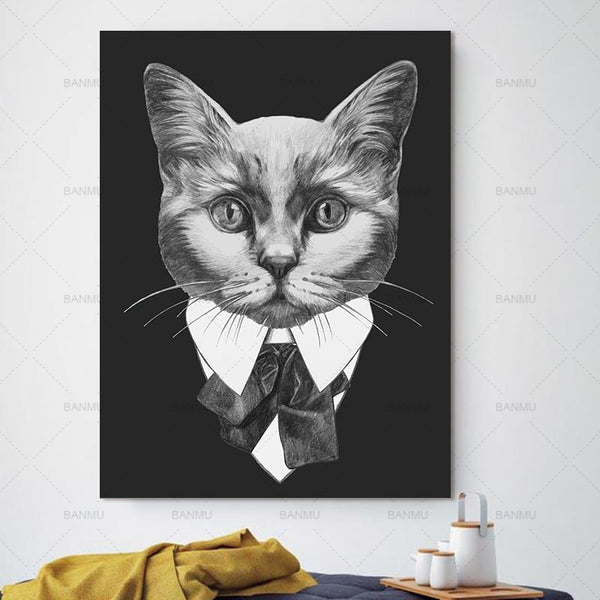 Picture wall art  Canvas Painting home decor Wall poster decoration for living room prints cartoon animal painting art no frame