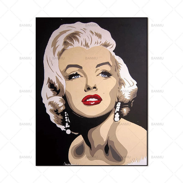 Wall Art Pictures Canvas Painting home decor Wall poster decoration for living room prints Marilyn Monroe on canvas no frame