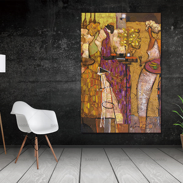 Canvas Painting Abstract canvas painting on figure picture Nordic Abstract Hope Wall art  Pictures Decor Living Room No Frame