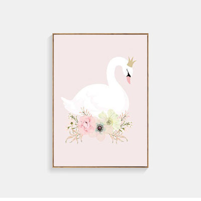 Swan Poster Posters And Prints Nordic Poster Canvas Art Wall Pictures For Living Room Wall Art Canvas Painting Unframed
