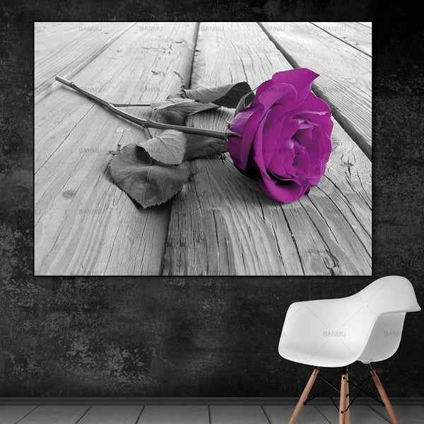 Wall Art Pictures Canvas Painting home decor prints beautiful rose on canvas Wall poster decoration for living room no frame