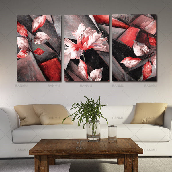 No Frame Wall Painting abstract Flower Canvas Painting Home Decoration Pictures Wall Pictures For Living Room Modular Pictures