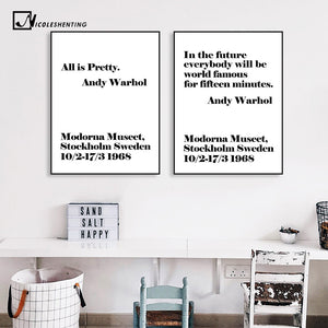Famous Motivational Life Quote Poster Canvas Prints Wall Art Painting Education Decorative Picture for Living Room Home Decor