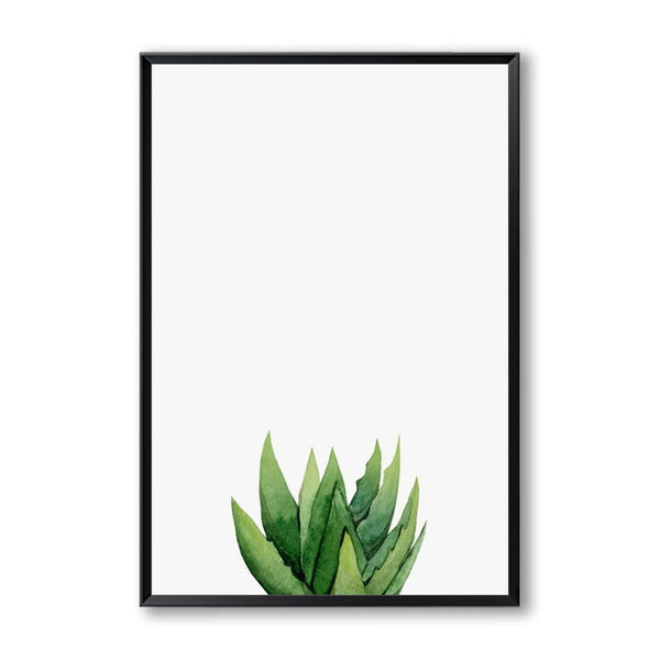Cactus Green Potted Plant Cuadros Decoration Wall Art Canvas Painting Nordic Poster Wall Pictures For Living Room Unframed