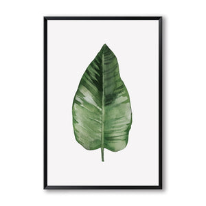 Elegant Poetry Green Plant Leaves Watercolor Canvas Painting Art Print Poster Picture Wall Painting Home Bedroom Wall Decoration