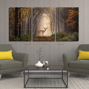 Canvas painting picture deer in forest modern print on canvas Home Decorative Living Room Wall Art Picture Paint modern print