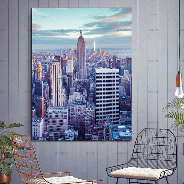 Canvas painting Pictures home decor Wall poster print Urban landscape on Canvas wall picture decoration for living room no frame