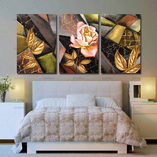Wall art print canvas painting wall picture flower abstract decoration for living room