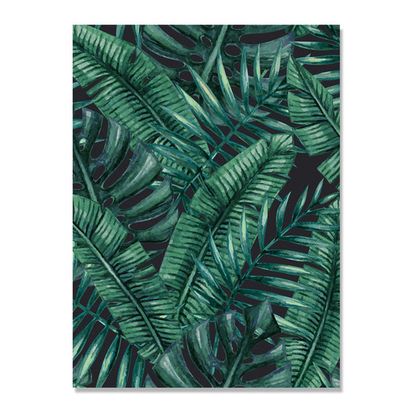 Green Palm Leaf Plants Wall Art Canvas Painting Posters And Prints Nordic Poster Picture Wall Pictures For Living Room Unframed