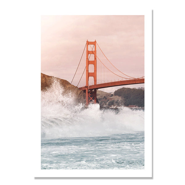 Bridge Poster Sea Water Picture Love Cuadros Decoracion Home Posters Wall Art Canvas Painting Nordic Poster Wall Decor Unframed