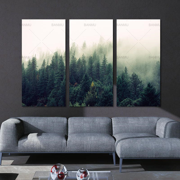 Picture landscape canvas painting Wall art  the forest posters and prints home decoration painting art print on canvas no frame