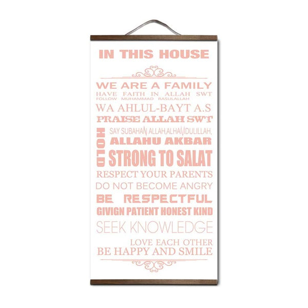 in this house rules canvas painting with wall art family room decoration diy home posters and prints pictures for living room