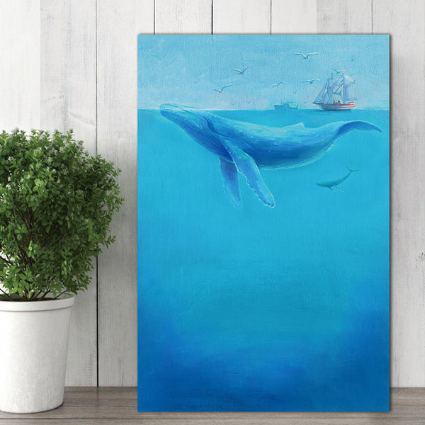 Dolphin Canvas Painting home decor  Wall Art Pictures poster decoration for living room prints  on canvas no frame