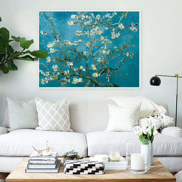 Elegant Poetry Apricot Flower by Vincent Van Gogh Famous Artist Art Print Poster Wall Picture Canvas Oil Painting Wall Decor