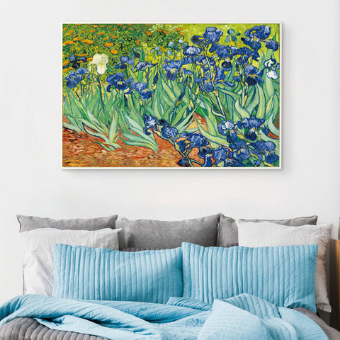 Elegant Poetry Iris Flower by Vincent Van Gogh Famous Artist Art Print Poster Wall Picture Canvas Oil Painting Home Wall Decor