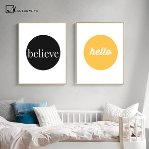NICOLESHENTING Nursery Wall Art Canvas Painting Minimalist Posters Print Cartoon Picture Home Decor Nordic Style Kids Decoration